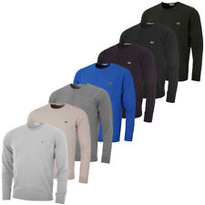 Lacoste Mens Crew Neck Wool Jersey Sweater AH2995 Pullover Classic Jumper