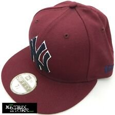 NEW ERA CHENILLE APPLIQUE MLB 59FIFTY FITTED CAP - NEW YORK YANKEES - MAROON