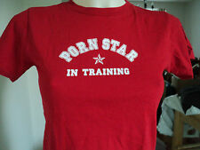 PORN STAR In Training Red Tee T Shirt Top sz Small