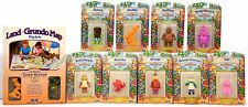 Nine 1986 Worlds of Wonder Teddy Ruxpin Figures MOC PLUS Land of Grundo Map MIB