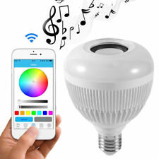 Wireless Bluetooth LED Stereo Audio Speaker Bulb 28 Light Beads Music Lamp WD