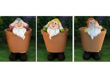 SEE NO EVIL HEAR NO EVIL SPEAK NO EVIL LARGE DECORATIVE GARDEN GNOME PLANT POTS