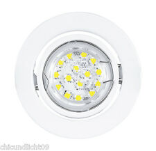 LUZ EMPOTRABLE LED Blanco de EGLO 30065 incl. LED GU10 Bombilla 3 vatios 180lm