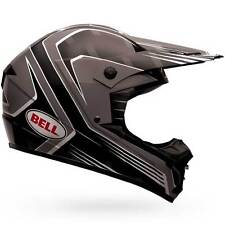 Bell SX-1 SX 1 Da Corsa Nero Motocross Moto Dirt Bike Casco Off Road