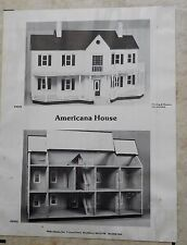 Hofco Americana Model 242 Vintage Doll House MIB Complete w Directions