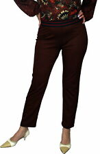 SAVE THE QUEEN  Damen Hose, gerader Schnitt, braun mit Muster, S, M, L, XL, XXL.