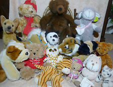 Soft Plush Toys Alsatian Tiger Bulldog Cat Bear Comforter Brandy Timber Swoops