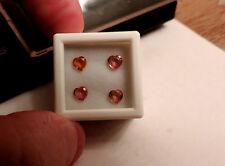 4 Loose Heart Shaped 1.35ct Padparadscha Natural Sapphires. Gorgeous Sparkle :)