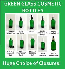 Green Glass Dropper Bottles Aromatherapy Tinctures + Closures Pipette Spray Pump