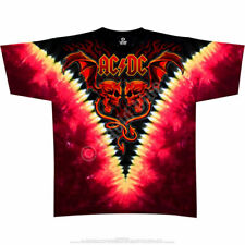 AC/DC Evil Wings Tie Dye Angus Young Heavy Metal Rock Hell Shirt 11803
