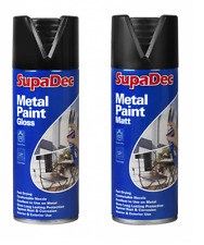 SupaDec Metal Spray Paint 400ml Gloss / Matt Black - Aerosol