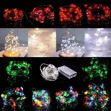20 30 50 LEDs Copper Wire Multi Shape String fairy light House Yard Party Decor