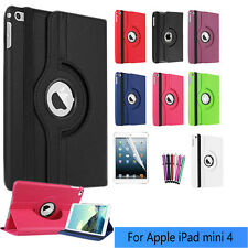 360 Degree Rotating PU Leather Smart Stand Case Cover For Apple iPad Mini 4