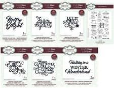 CREATIVE EXPRESSIONS Sue Wilson Dies & Stamps Festive Sentiments  2017 Christmas