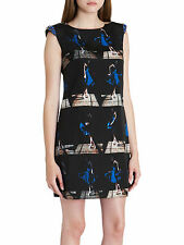 "TED BAKER QUIRKY RETRO ""BLUOSIE""EMBELLISHED TUNIC PARTY OCCASION DRESS BNWT UK8"