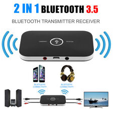 2 In 1 Wireless Stereo Audio Bluetooth Transmitter Receiver Adapter Black NEW DV
