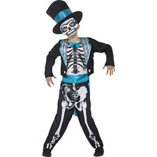 Childs Day of the Dead Groom Boys Kids Scary Halloween Fancy Dress Costume 44929
