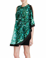 TED BAKER QUIRKY GREEN & BLACK PATRA TUNIC WEDDING OCCASION DRESS UK10 BNWT £139