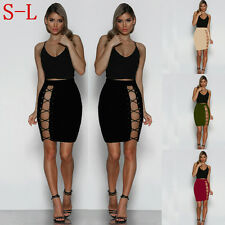 Hot Womens Summer Sexy Bandage Short Skirt Bodycon Slim Fit Package Hip Skirt
