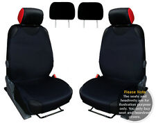 2x T-SHIRT CAR FRONT SEAT COVER PROTECTOR BLACK For Toyota Yaris