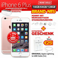 Brand Neu Versiegelt Ohne Simlock Apple iPhone 6 Plus+ 16GB 64GB 128GB Rose Gold