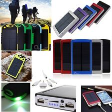 5000/10000/30000mAh Solar Power Bank Charger USB caricabatteria per Iphone htc