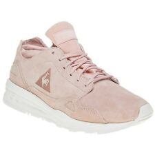 New Womens Le Coq Sportif Pink Flow Suede Trainers Retro Lace Up
