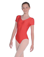 Roch Valley Jeanette nylon/lycra sleevless leotard with gathered bustline black