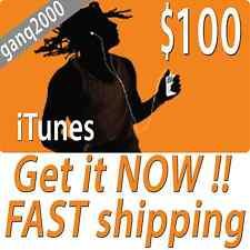 $100 APPLE US iTUNES CARD gift voucher certificate FAST FREE worldwide shipping