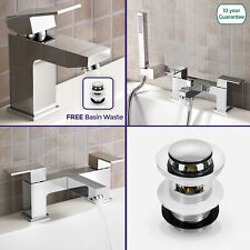 ALDO BATHROOM MODERN CHROME SQUARE BASIN MIXER BATH FILLER SHOWER DECK MOUNT TAP