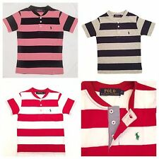 Polo Ralph Lauren Crew Neck Short Sleeve Striped Shirts For Kids Size's 2T-- 7T