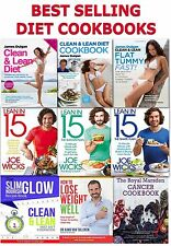Diet Books Collection Set Healthy Eating Recipe Cookbooks Lunch Dinner Breakfast