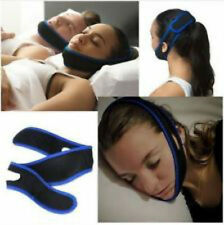 Anti Snoring Chin Strap Belt Stop Snore Device Apnea Jaw Support  Solution UK