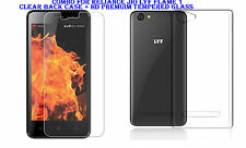 Combo For Reliance Jio Lyf Flame 1- Clear Back Case + HD Premuim Tempered Glass