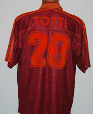 maglia roma totti asics 1995 1996 home no match worn issue #20 jersey shirt