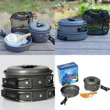 Non-stick Pots Pans Bowls Portable Outdoor Camping Hiking Cooking Set Cookware