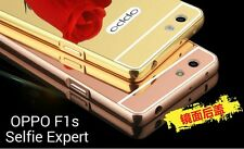 *Aluminium*Metal Bumper*MIRROR*Back Cover Case For Oppo F1S *