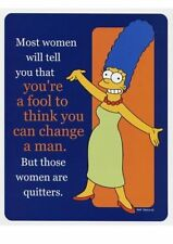 New The Simpsons Marge Simpson, Change Your Man Poster Card