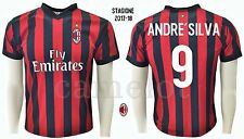 MAGLIA UFFICIALE ANDRE' SILVA AC MILAN 2017 - 2018 OFFICIAL  JERSEY MILAN