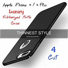 *Luxury*Rubberized Matte Hard 4 Cut Back Cover Case For Apple iPhone 7/7 Plus *