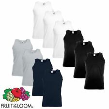 Fruit of the Loom 5/10 débardeurs homme Value Weight Coton Multicolore S-XXL