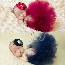 Baby Girl Infant Cute Costume Tutu Skirt +Flower Headband Set Photo Props Outfit