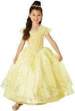 Girls Premium Disney Princess Belle Beauty and the Beast Dress Costume Outfit