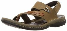Lee cooper lc1946 Men S Olive Leather Sandals And Floaters