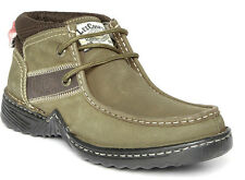 Lee Cooper Men Olive Green Leather Boots lc2058