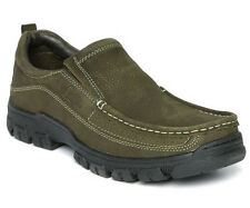 Lee Cooper Men Olive Green Leather Casual Shoes LC2055