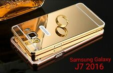 Aluminium*Metal Bumper*MIRROR*Back Cover Case For Samsung Galaxy J7 2016 *