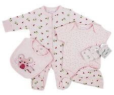 Baby Girls 'Little Mouse' 5 Piece Layette Gift Set (Newborn - 6 Months)