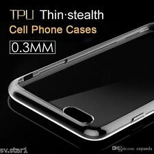 *Transparent*Ultra Thin Soft Silicone Cover Case For Apple iPhone All Models*