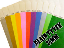500 (25mm) Plain Tyvek Wristbands for Festivals, events, parties, security